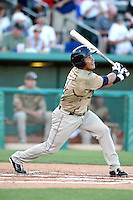 Everth Cabrera #1 of the Tucson Padres hits a first inning homerun in a Pacific Coast League game against the Salt Lee Bees at Kino Stadium on April 17, 2011  in Tucson, Arizona. .Photo by:  Bill Mitchell/Four Seam Images.