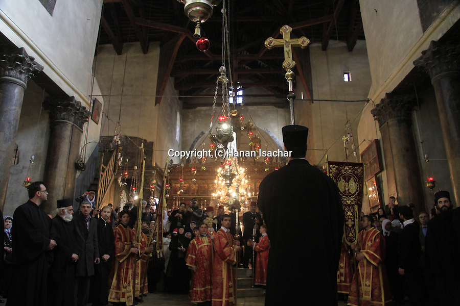 Christmas in Bethlehem, Greek Orthodox ceremony at the Church of the Nativity