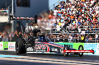 Sept. 22, 2013; Ennis, TX, USA: NHRA top fuel dragster driver Steve Torrence during the Fall Nationals at the Texas Motorplex. Mandatory Credit: Mark J. Rebilas-