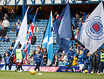 28.04.2019 Rangers v Aberdeen: Rangers flagbearers