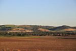 Wind turbines on hilltops, Vejer de la Frontera, Cadiz Province, Spain