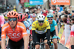 Race leader Edvald Boasson Hagen (NOR) Team Dimension Data knows he has lost the Yellow Jersey as he crosses the finish line of Stage 2 of the Criterium du Dauphine 2019, running 180km from Mauriac to Craponne-sur-Arzon, France. 9th June 2019<br /> Picture: Colin Flockton | Cyclefile<br /> All photos usage must carry mandatory copyright credit (© Cyclefile | Colin Flockton)