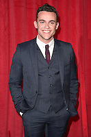 Luke Jerdy<br /> arrives for the British Soap Awards 2016 at Hackney Empire, London.<br /> <br /> <br /> &copy;Ash Knotek  D3124  28/05/2016