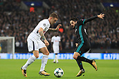 1st November 2017, Wembley Stadium, London, England; UEFA Champions League, Tottenham Hotspur versus Real Madrid; Kieran Trippier of Tottenham Hotspur takes on Isco of Real Madrid