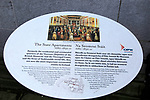 Information panel about the State Apartments Dublin castle, Ireland, Irish Republic