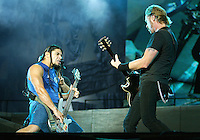 Metallica performs at the LA Coliseum