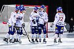 Uppsala 2013-11-20 Bandy Elitserien IK Sirius - Edsbyns IF :  <br /> Edsbyn Jonas Edling gratuleras av lagkamrater efter sitt 4-1 m&aring;l<br /> (Foto: Kenta J&ouml;nsson) Nyckelord:  jubel gl&auml;dje lycka glad happy
