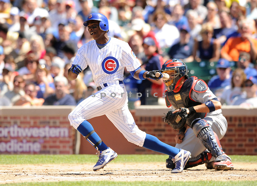 ALFONSO SORIANO,  of the Chicago Cubs  in action  during the Cubs game against the St. Louis Cardinals.  The Cardinals beat the Cubs 7-1 in Chicago, Illinois on May 28, 2010...DAVID DUROCHIK / SPORTPICS