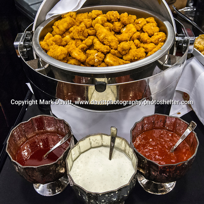 The Altoona Chamber of Commerce again hosted Taste of Altoona at Prairie Meadows Sept. 5. The event offers Altoona area residents an opportunity to sample appetizers, entrees and desserts from area businesses. HyVee brought boneless wings and sauces.
