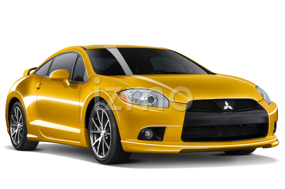 Front three quarter view of a 2009 Mitsubishi Eclipse GT Coupe.