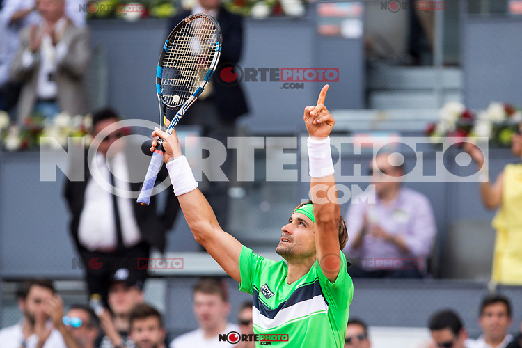 David Ferrer during  Mutua Madrid Open Tennis 2017 at Caja Magica in Madrid, May 08, 2017. Spain. /NortePhoto.com