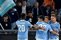 Ciro Immobile of SS Lazio celebrates with team mates after scoring the goal of 1-0 for his side<br /> Roma 7-11-2019 Stadio Olimpico <br /> Football Europa League 2019/2020 <br /> SS Lazio - Celtic <br /> Photo Andrea Staccioli / Insidefoto