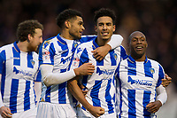 Kurtis Guthrie of Colchester United celebrates his opening goal with his team mates during Colchester United vs Cheltenham Town, Sky Bet EFL League 2 Football at the Weston Homes Community Stadium on 6th January 2018