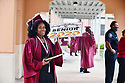 PEMBROKE PINES, FL - MAY 15: Student Kelsi StLouis poses for a photo after the graduation ceremony at Pembroke Pines Charter High School on May 15, 2020 in Pembroke Pines, Florida. Because of social distancing mandates instituted by the state to curtail the spread of COVID-19, the 2020 graduates received their diplomas in a near-empty auditorium with no friends, family or relatives allowed to attend. A video of each student walking the stage to receive their diploma will be streamed on the school's scheduled graduation date of May 29.   ( Photo by Johnny Louis / jlnphotography.com )