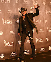 LAS VEGAS, NV - April 6: Male Vocalist of the Year Award winner Jason Aldean at the 49th Annual Academy of Country Music Awards Press Room at the MGM Grand on April 6, 2014 in Las Vegas, Nevada. © Kabik/ Starlitepics