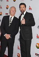 LOS ANGELES, CA - JANUARY 12: Paul Hogan and Hugh Jackman  attend the 2013 G'Day USA Black Tie Gala at JW Marriott Los Angeles at L.A. LIVE on January 12, 2013 in Los Angeles, California.PAP0101387.G'Day USA Black Tie Gala PAP0101387.G'Day USA Black Tie Gala