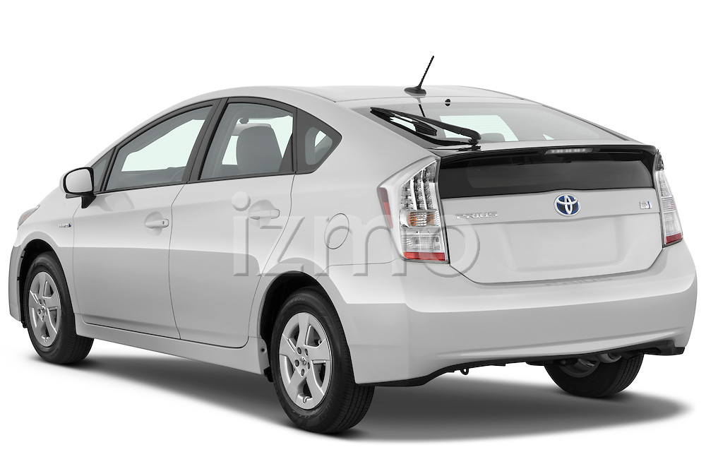 Rear three quarter view of a 2010 Toyota Prius 2