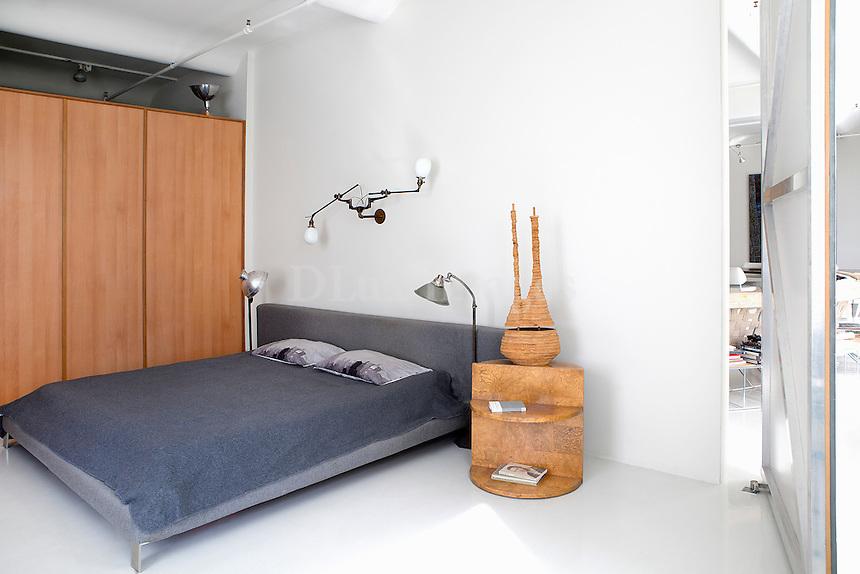 gray bedroom