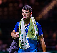 Rotterdam, The Netherlands, 12 Februari 2019, ABNAMRO World Tennis Tournament, Ahoy, first round singles: Franko Skugor (CRO),<br /> Photo: www.tennisimages.com/Henk Koster