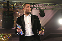 Joe Joyce with a Special Achievement Award during a Charity Dinner Boxing Show at the Hilton Hotel on 13th November 2017