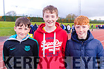 Kyle O'Connor, Daire Nolan and Gavin Slattery, students from Causeway Comprehensive Secondary School pictured at the Kerry ETB Athletics event, at An Riocht, Castleisland on Friday last.