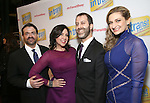 Rick Hip-Flores, Kristen Anderson-Lopez, Russ Kaplan and Sara Wordsworth attends the Broadway Opening Night Performance of 'In Transit'  at Circle in the Square Theatre on December 11, 2016 in New York City.