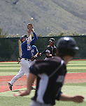 Western Nevada's Casey Cornwell makes a play against Utah State University Eastern at WNC in Carson City, Nev., on Friday, April 29, 2016.<br /> Photo by Cathleen Allison