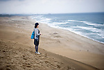 Visitors enjoy the sand dunes near Tottori city, Tottori Prefecture, Japan in June 2012. PHOTO: ROB GILHOOLY