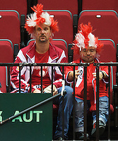 15-sept.-2013,Netherlands, Groningen,  Martini Plaza, Tennis, DavisCup Netherlands-Austria, fourth rubber,  Austrian supporters <br />