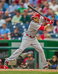 21 May 2014: Cincinnati Reds outfielder Billy Hamilton in action against the Washington Nationals at Nationals Park in Washington, DC. The Reds edged out the Nationals 2-1 to take the rubber match of their 3-game series. Mandatory Credit: Ed Wolfstein Photo *** RAW (NEF) Image File Available ***
