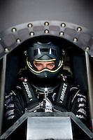 Jun 5, 2015; Englishtown, NJ, USA; NHRA funny car driver Dom Lagana during qualifying for the Summernationals at Old Bridge Township Raceway Park. Mandatory Credit: Mark J. Rebilas-