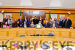 Fionnbar and Elma Walsh received a Civic Reception at the Kerry County Council chambers on Monday.
