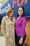 Hempstead, New York, USA. April 4, 2016. L-R, MARIA ZIEHER, of Garden City, and MARIELLA REYZIS of Brooklyn, both students of Hostra Law School, are at the Town Hall hosted by John Kasich, Republican presidential candidate and governor of Ohio, at Hofstra University David Mack Student Center in Long Island. Zieher registered for the Republican Party to vote for Gov. Kasich. The New York primary is April 19, and Kasich is the first of the three GOP presidential candidates to campaign in Nassau and Suffolk Counties, and is in third place in number of delegates won.
