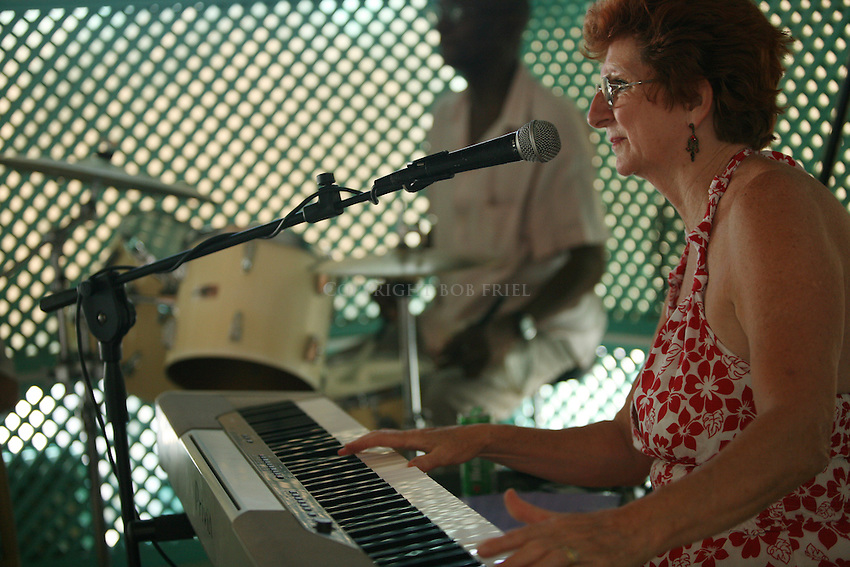 Jazz at the Tank.Lobster Alive Restaurant.Bridgetown, St. Michael Parish.Barbados