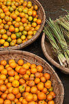 Kumquats and lemongrass for sale at the fruit and vegetable market, Bach Dang St, Hoi An, Viet Nam