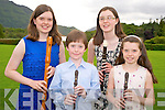 Pictured at the Killarney Rotary Club Young Musician of the Year summer showcase held in Muckross House on Thursday evening were Louise, Karl, Emily and Jane O'Sullivan, Lauragh.