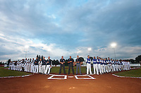 17 August 2010: Team France and Team Czech Republic pose prior to the Czech Republic 4-3 win over France, at the 2010 European Championship, under 21, in Brno, Czech Republic.
