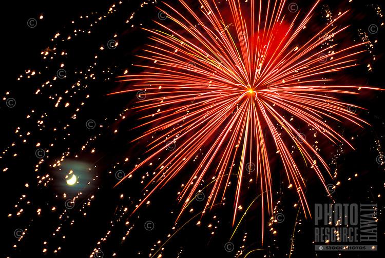 Fireworks display taken in Hilo