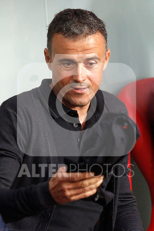 FC Barcelona's coach Luis Enrique Martinez during La Liga match. August 28,2016. (ALTERPHOTOS/Acero)