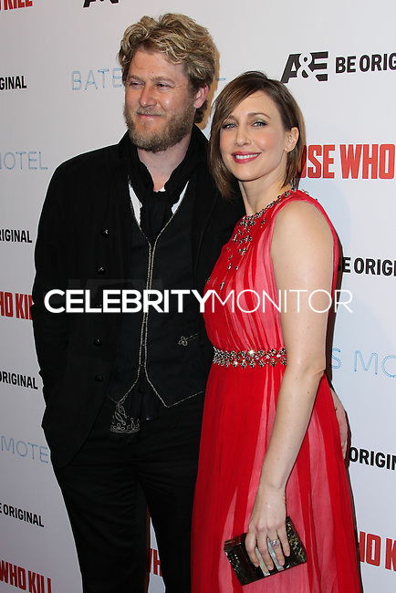 """HOLLYWOOD, LOS ANGELES, CA, USA - FEBRUARY 26: Renn Hawkey, Vera Farmiga at the Premiere Party For A&E's Season 2 Of """"Bates Motel"""" & Series Premiere Of """"Those Who Kill"""" held at Warwick on February 26, 2014 in Hollywood, Los Angeles, California, United States. (Photo by Xavier Collin/Celebrity Monitor)"""