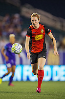 Orlando, Florida - Sunday, May 14, 2016: Western New York Flash midfielder Samantha Mewis (5) during a National Women's Soccer League match between Orlando Pride and New York Flash at Camping World Stadium.
