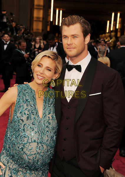 HOLLYWOOD, CA- MARCH 02: Actors Elsa Pataky (L) and Chris Hemsworth attend the 86th Annual Academy Awards held at Hollywood &amp; Highland Center on March 2, 2014 in Hollywood, California.<br /> CAP/ROT/TM<br /> &copy;Tony Michaels/Roth Stock/Capital Pictures