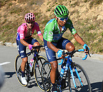 Nairo Quintana (COL) Movistar Team wearing the Green Jersey loses over 1' on the final climb of Stage 15 of La Vuelta 2019  running 154.4km from Tineo to Santuario del Acebo, Spain. 8th September 2019.<br /> Picture: Karlis | Cyclefile<br /> <br /> All photos usage must carry mandatory copyright credit (© Cyclefile | Karlis)