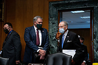 Internal Revenue Service Commissioner Charles P. Rettig and United States Senator Chuck Grassley (Republican of Iowa), Chairman, US Senate Committee on Finance, arrive to a US Senate Finance Committee hearing about the 2020 Filing Season and IRS COVID-19 Recovery at the U.S. Capitol in Washington DC on June 30th, 2020.<br /> Credit: Anna Moneymaker / Pool via CNP /MediaPunch