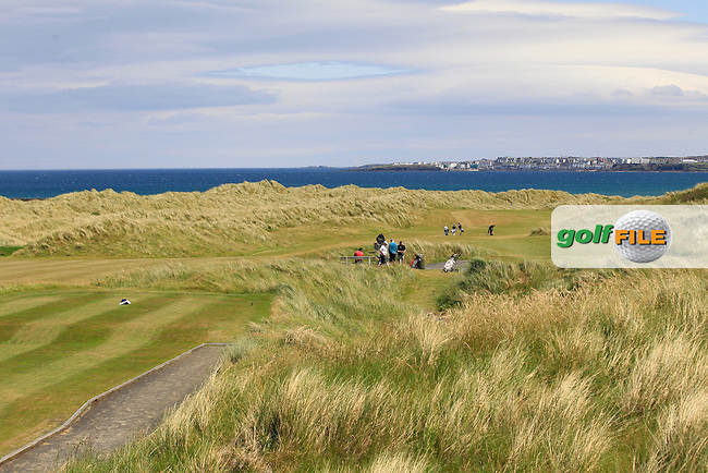 A view of Portstewart from the 18th tee during Round 1 of the Ulster Boys Championship at Castlerock Golf Club on Tuesday 30th June 2015.<br /> Picture:  Golffile | Thos Caffrey