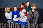 Back stage and barking to go, at Annie Jr. The Musical in Siamsa Tire on Friday morning.<br /> L to r: Ashley Greer, Aoibhinn Dowling, Saoirse Wenk (Annie),  Hamilton the dog, Cathal and Sinead Carr