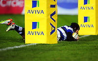 Jack Wilson of Bath Rugby scores a try in the first half. Aviva Premiership match, between Bath Rugby and Bristol Rugby on November 18, 2016 at the Recreation Ground in Bath, England. Photo by: Patrick Khachfe / Onside Images