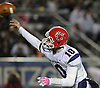 MacArthur quarterback No. 10 Jimmy Kelleher throws a pass during a Nassau County varsity football Conference II semifinal against Carey at Hofstra University on Friday, Nov. 13, 2015. MacArthur won by a score of 29-15.<br /> <br /> James Escher