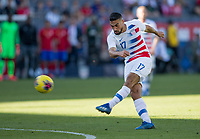 CARSON, CA - FEBRUARY 1: Sebastian Lletget #17 of the United States takes a shot during a game between Costa Rica and USMNT at Dignity Health Sports Park on February 1, 2020 in Carson, California.
