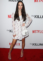 HOLLYWOOD, LOS ANGELES, CA, USA - JULY 14: Chloe Bridges at the Los Angeles Premiere Of Netflix's 'The Killing' Season 4 held at ArcLight Cinemas on July 14, 2014 in Hollywood, Los Angeles, California, United States. (Photo by Celebrity Monitor)